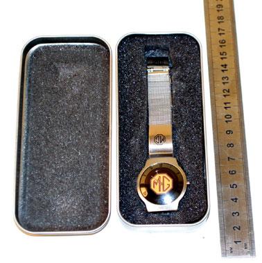 Lot 204-Mg Quartz Stainless Steel Wristwatch