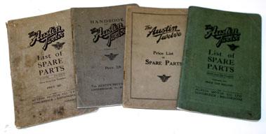 Lot 55-Austin Twelve Handbook & Spare Parts Lists