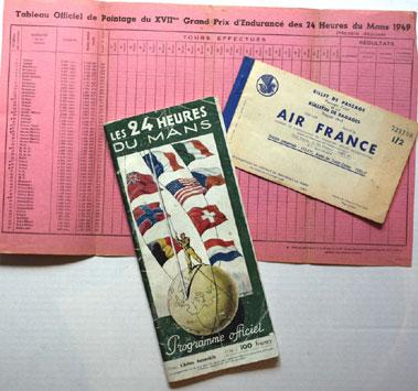 Lot 57-1949 Le Mans 24 Hrs Programme