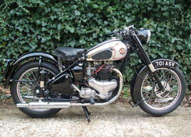 Lot 40-1949 BSA A7 Star Twin