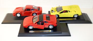 Lot 200-1:18 Scale Sports Car Models