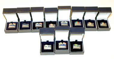 Lot 201-Williams F1 Pin Badges