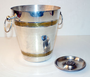 Lot 203-Barc Badged Ice Bucket & St Christopher Desk Top Piece