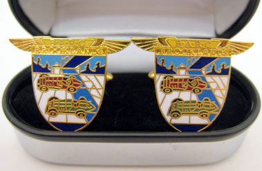 Lot 206-B.A.R.C. Brooklands 18ct Gold Plated Cufflinks