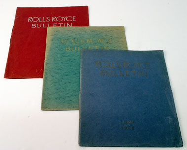 Lot 101-Assorted Early Rolls-Royce Bulletins