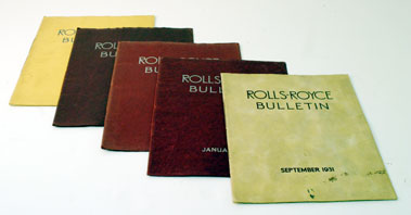 Lot 102-Assorted Early Rolls-Royce Bulletins