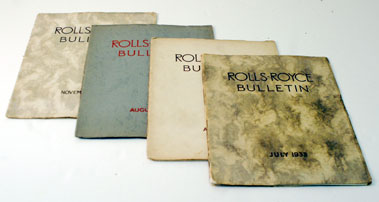 Lot 103-Assorted Early Rolls-Royce Bulletins