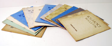 Lot 104-Large Quantity Of Early Rolls-Royce Bulletins
