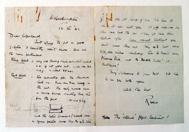 Lot 105-Illustrated Four Page Letter By Rivers Fletcher
