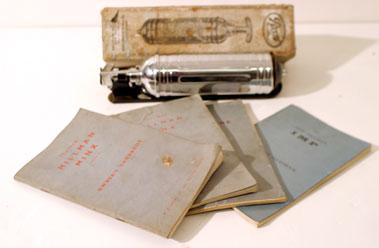 Lot 114-Four Hillman Handbooks & A Pyrene Extinguisher