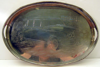 Lot 205-Rolls-Royce Engraved Service Tray