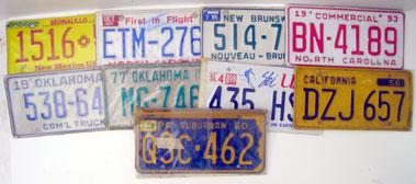Lot 208-Nine American License Plates