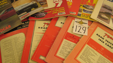 Lot 129-Motor Road Test Books.