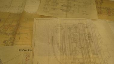 Lot 133-Ss Jaguar Engine Drawings.