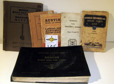 Lot 145-Commercial Vehicle Manuals And Paperwork.