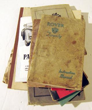 Lot 146-Motor Car Manuals And Paperwork.