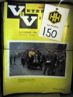 Lot 150-Veteran And Vintage Magazine