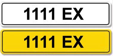 Lot 1-Registration Number 1111 EX