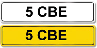 Lot 5-Registration Number 5 CBE