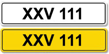 Lot 4-Registration Number XXV 111