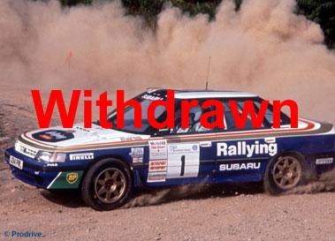 Lot 62-1992 Subaru Legacy RS Group A Rally Car
