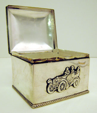 Lot 210-Early Motoring Trinket Box
