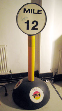 Lot 221-Thrust Ssc Mile Marker Signed By Capt A.Green