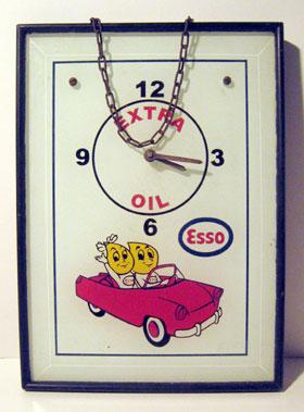 Lot 222-Esso Extra Oil Framed Wall Clock