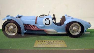 Lot 231-Talbot Lago 1:20 Scale Model