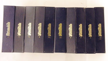 Lot 120-Ten Bound Volumes Of The Automobile
