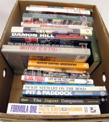 Lot 123-Assorted Motor Racing Books