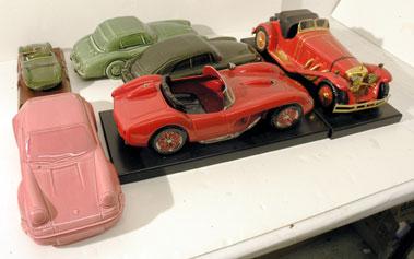 Lot 226-Porcelain Motor Car Models