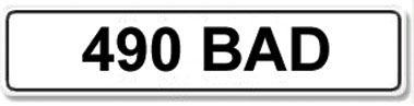 Lot 12-Registration Number 490 BAD