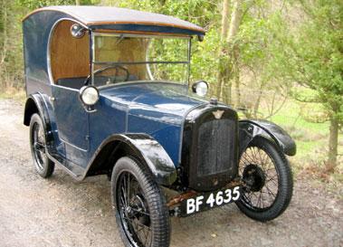 Lot 31-1927 Austin Seven Van