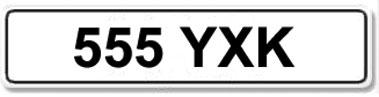 Lot 3-Registration Number 555 YXK