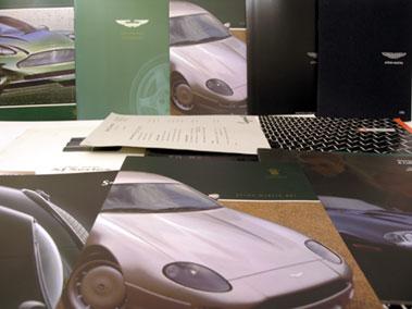 Lot 104-Assorted Jaguar & Aston Martin Sales Brochures