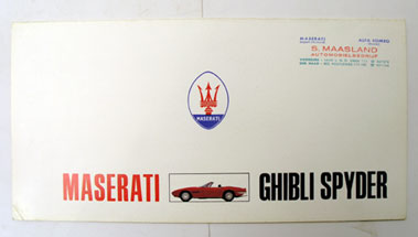 Lot 136-Maserati Ghibli Spyder Sales Brochure