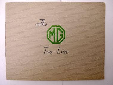 Lot 140-MG Two-Litre Sales Brochure