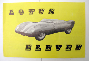 Lot 142-Lotus Eleven Sales Brochure