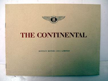 Lot 143-Bentley 'R-Type' Continental Sales Brochure