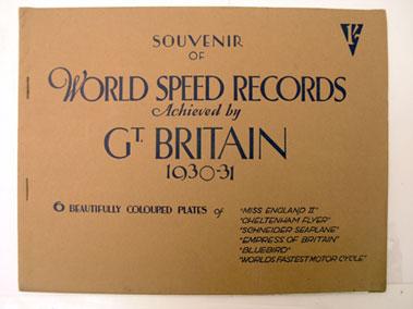Lot 145-Souvenir of World Speed Records 1930 - 1931