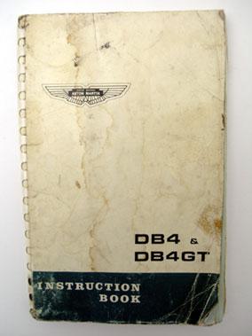 Lot 149-Aston Martin DB4 & DB4 GT Instruction Book