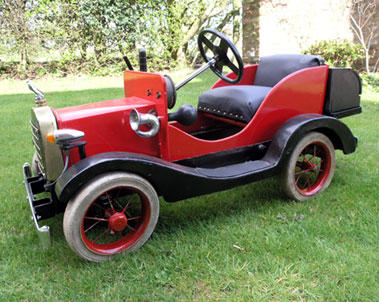 Lot 202-Vintage Child's Pedal Car