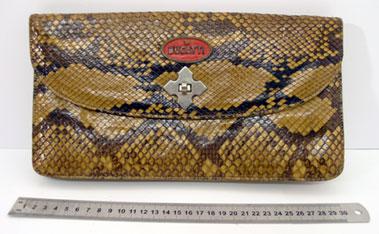Lot 206-Bugatti Badged Snake Skin Travel Bag