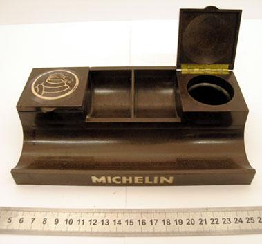Lot 214-Michelin Tyres Desktop Inkwell & Companion Unit