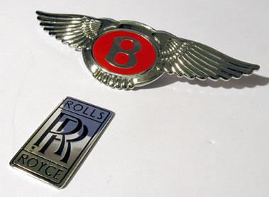 Lot 302-Bentley & Rolls-Royce Badges