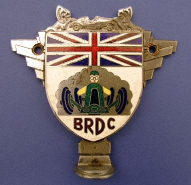 Lot 307-Louis Stanley's BRDC Car Badge