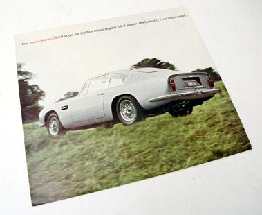 Lot 102-Aston Martin DB6 Sales Brochure