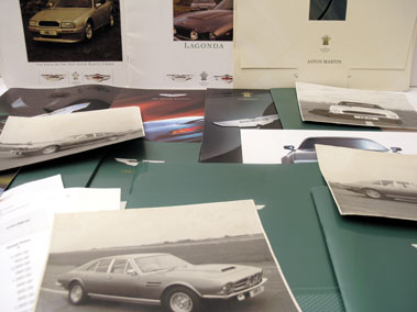 Lot 103-Quantity of Aston Martin Paperwork