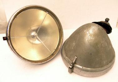 Lot 326-Post-War P100 Lucas Headlamps